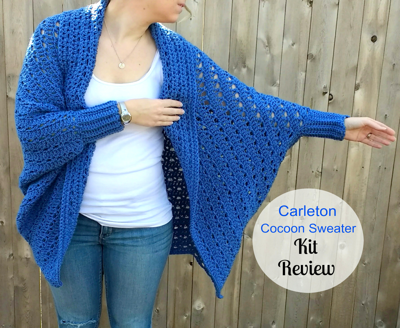 Free Crochet Cocoon Sweater Pattern : Carleton Cocoon Sweater Kit from Craftsy - A Review by ...
