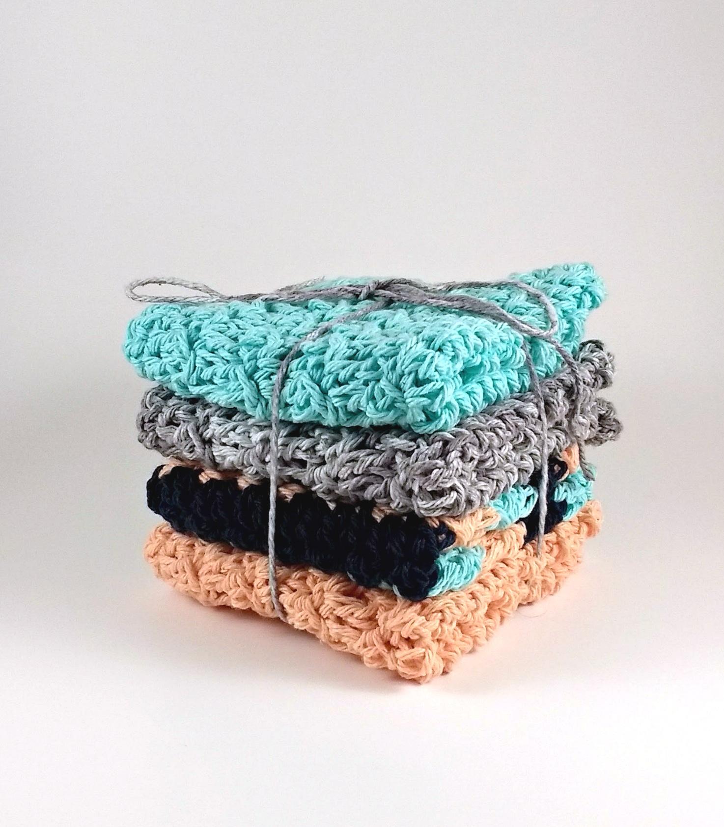 floret stitch crochet washcloth pattern
