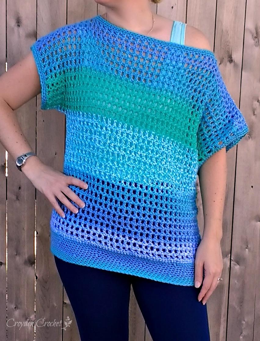 Off the Shoulder Crochet Top
