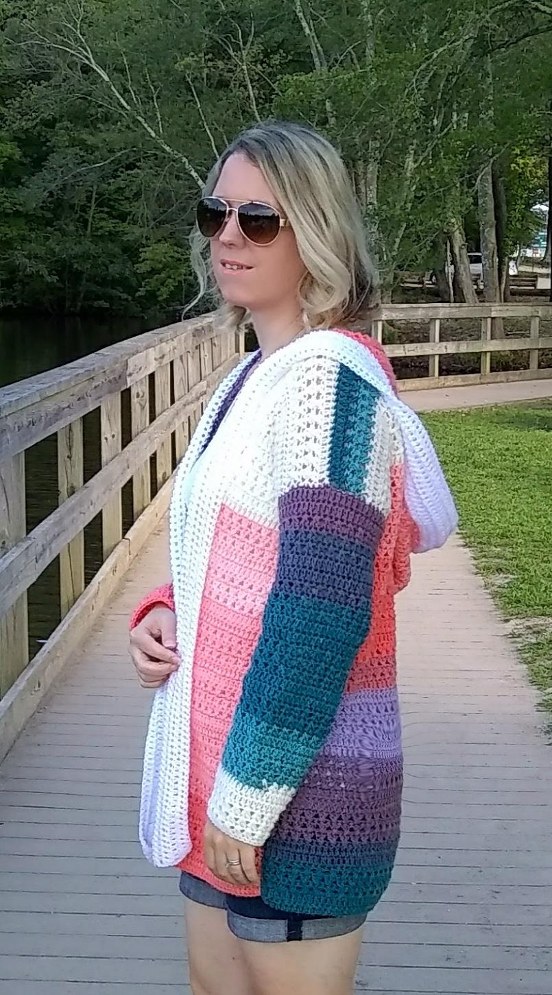 colorblock cardigan pattern