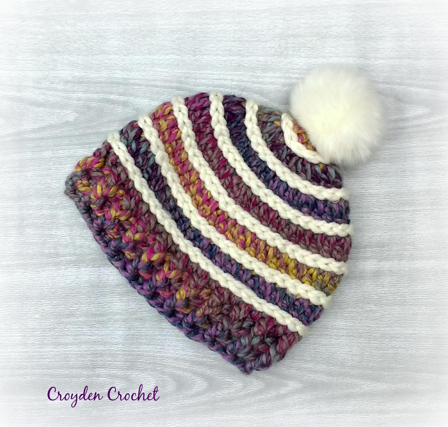 Spectrum Crochet Beanie