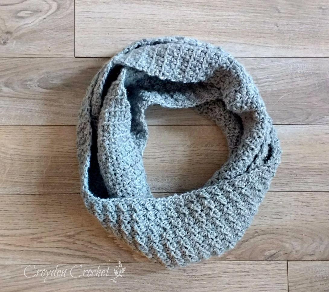 Cambridge Crochet Infinity Scarf