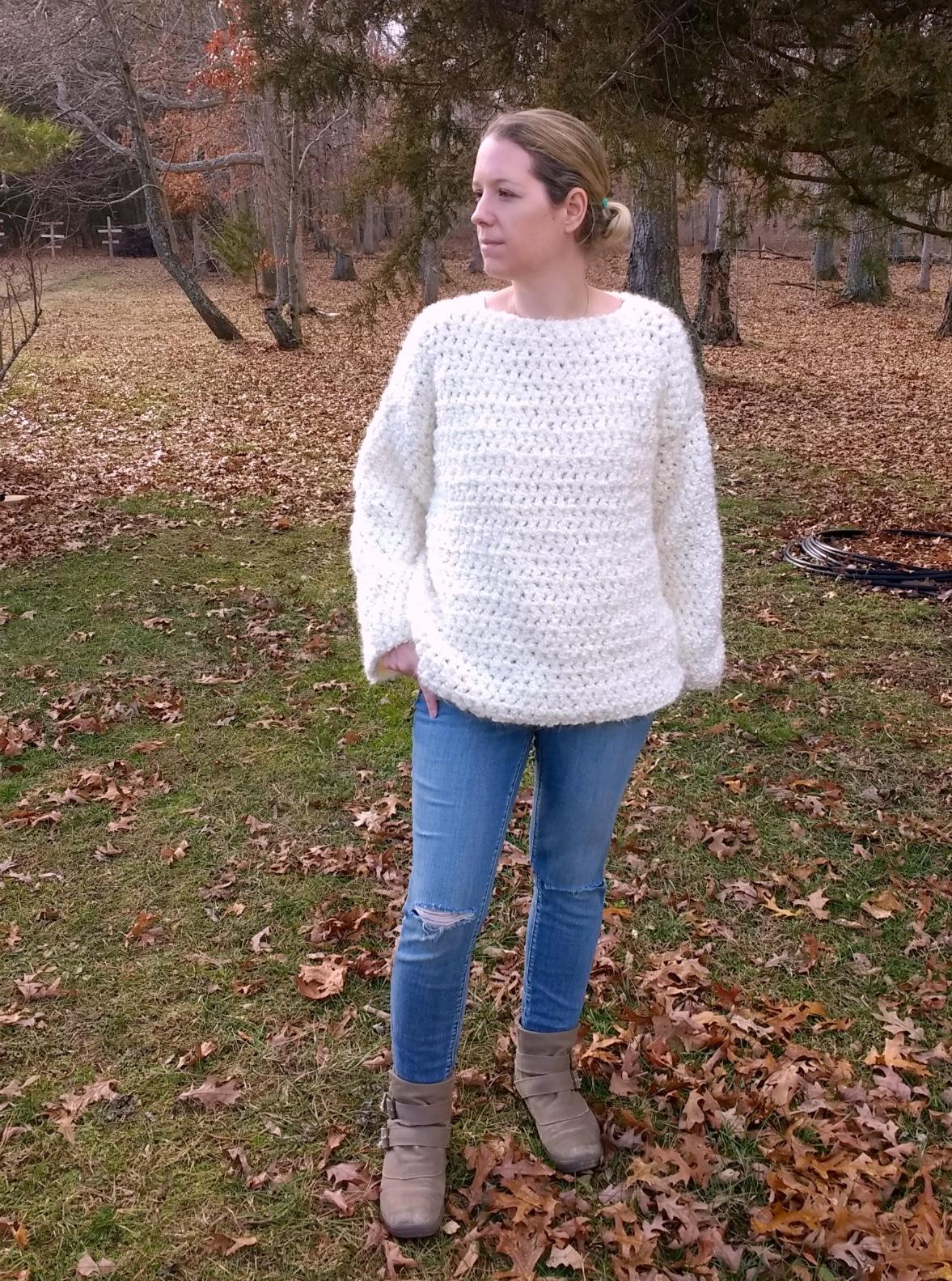 chunky crochet oversized sweater pattern