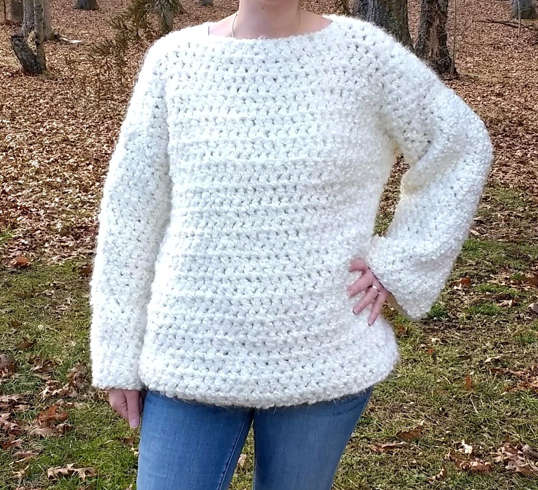 Crochet Chunky Oversized Sweater - A free pattern by Croyden Crochet