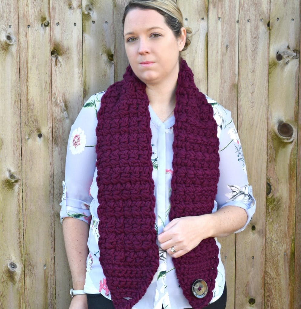 crossway button scarf