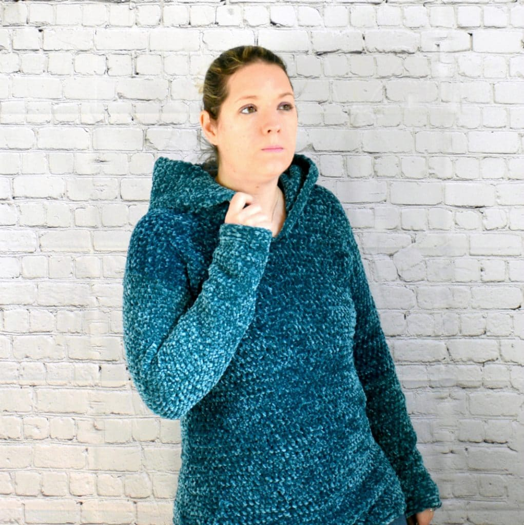 Velvet Crochet Hooded Pullover A Free Pattern By Croyden Crochet