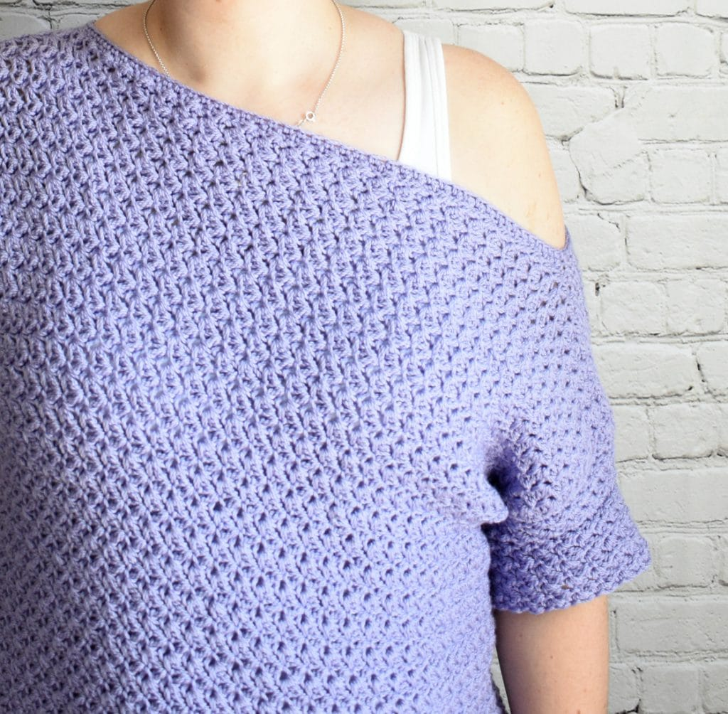 crochet freesia top