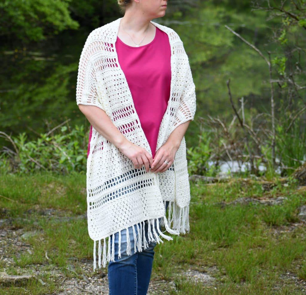 crochet yarrow wrap