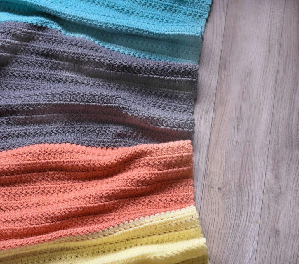 group stitch crochet baby blanket