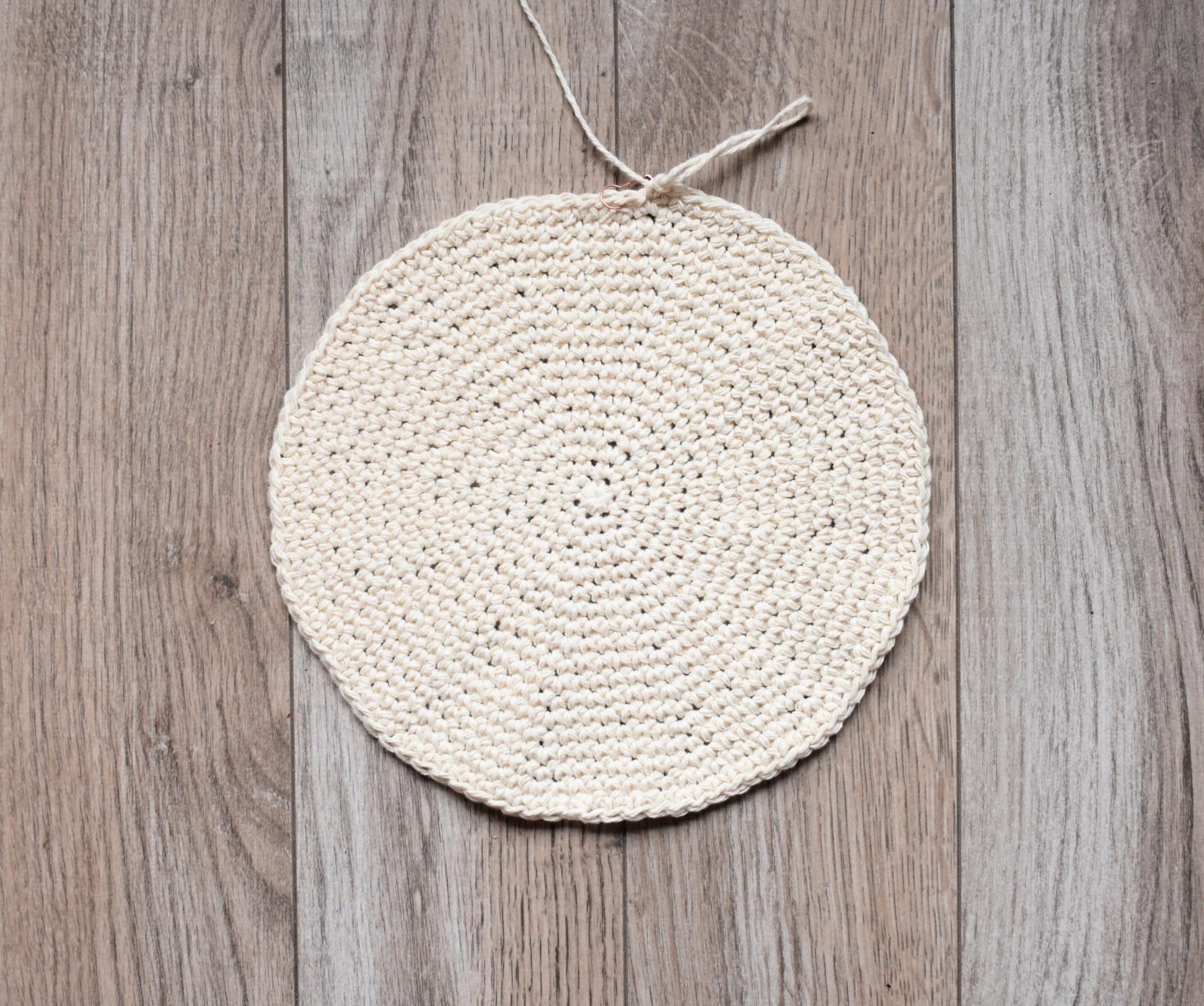 beaded crochet hobo bag base