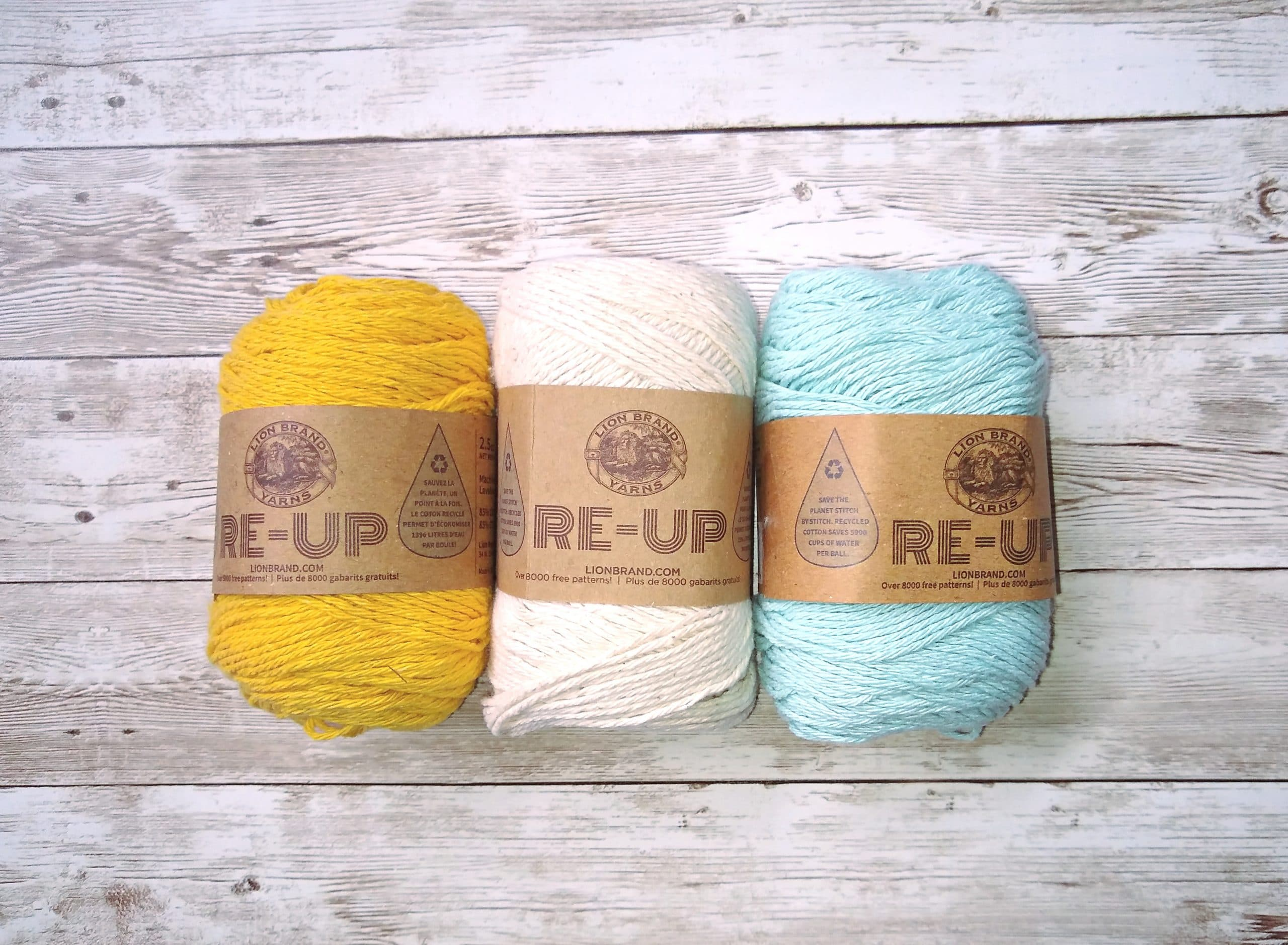 lion brand re-up yarn