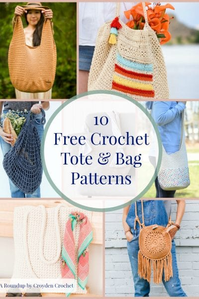 free crochet tote and bag patterns