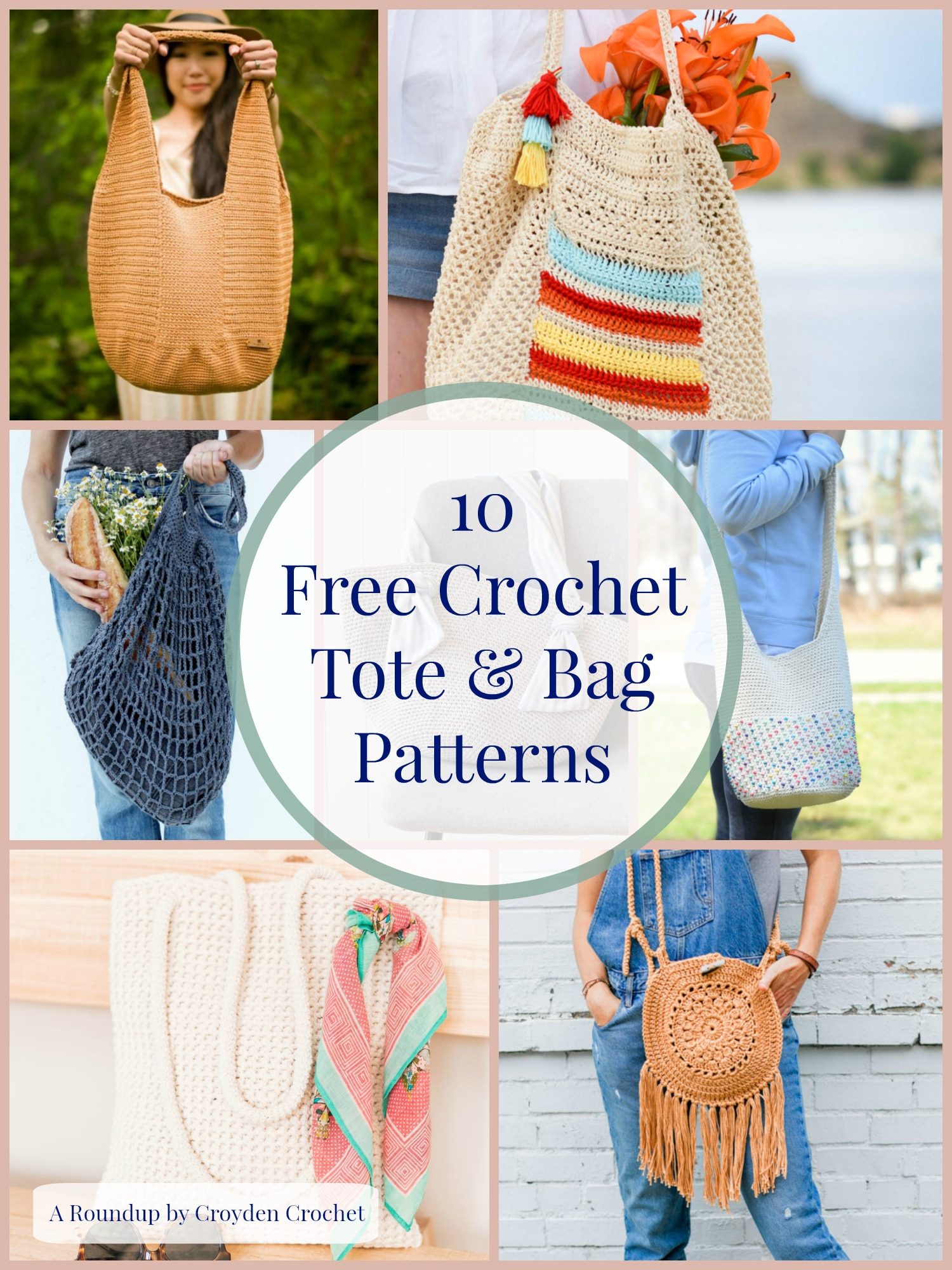 10 Free Crochet Tote And Bag Patterns A Roundup By Croyden Crochet