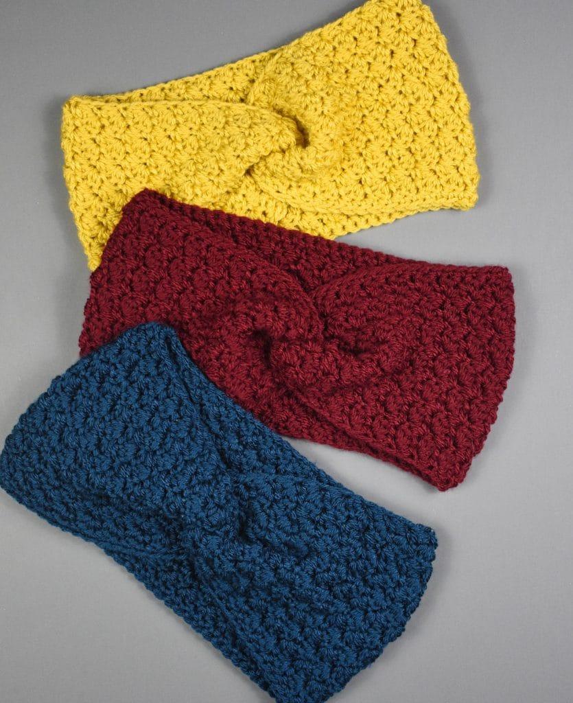 classic crochet twisted earwarmer pattern