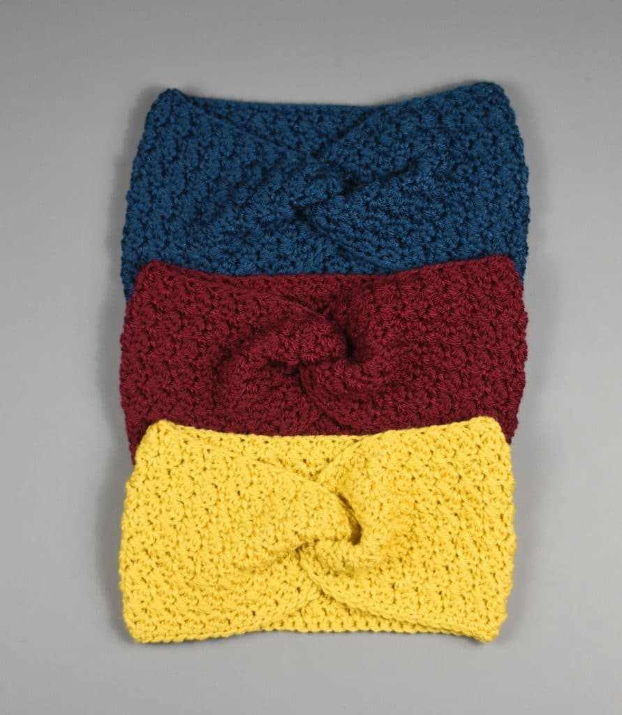 classic crochet twisted earwarmer