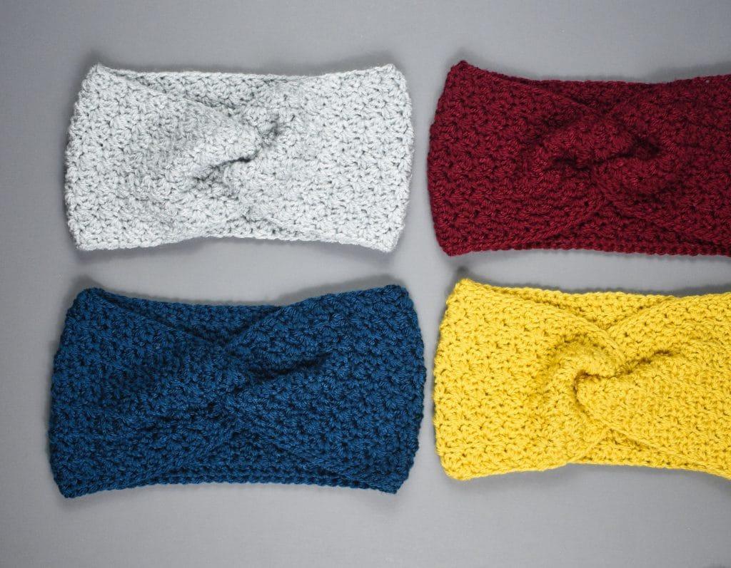 classic crochet twisted earwarmer