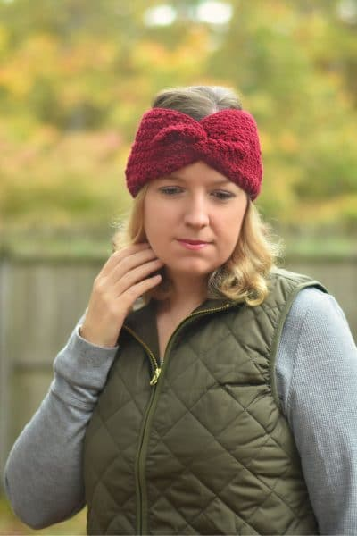 classic twisted crochet earwarmer