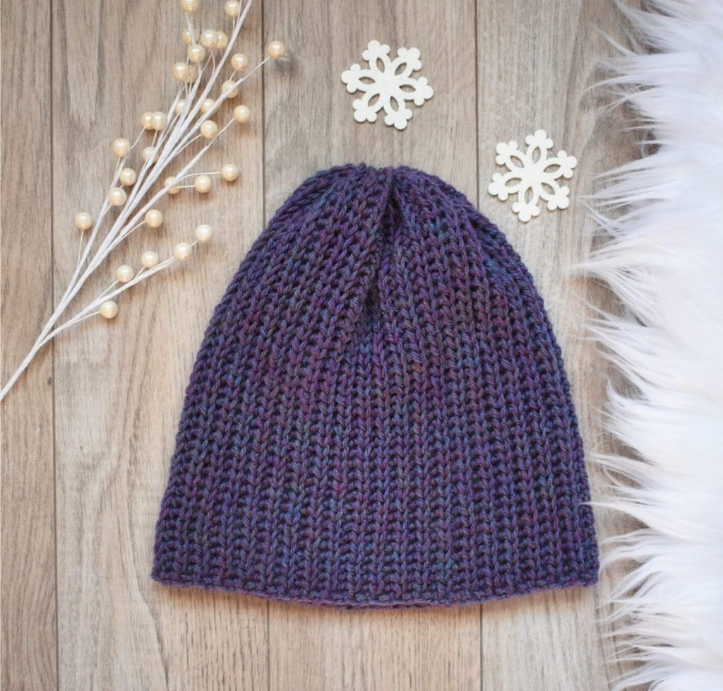 crocher classic ribbed beanie pattern
