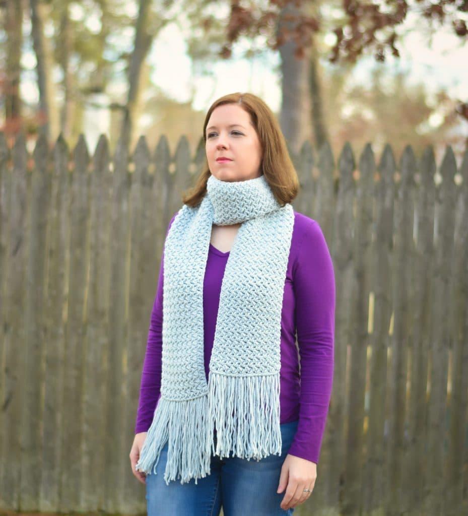 Misty Pines Crochet Scarf Pattern