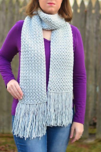 Misty Pines Crochet Scarf