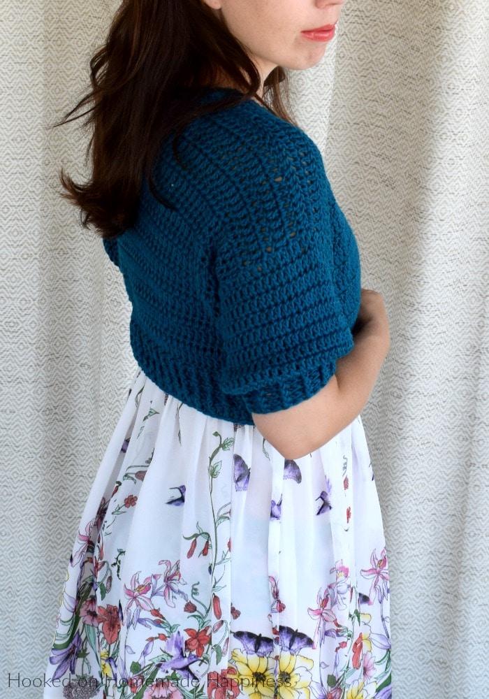 crochet summer cropped cardi
